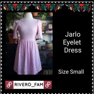 JARLO | PINK EYELET DRESS